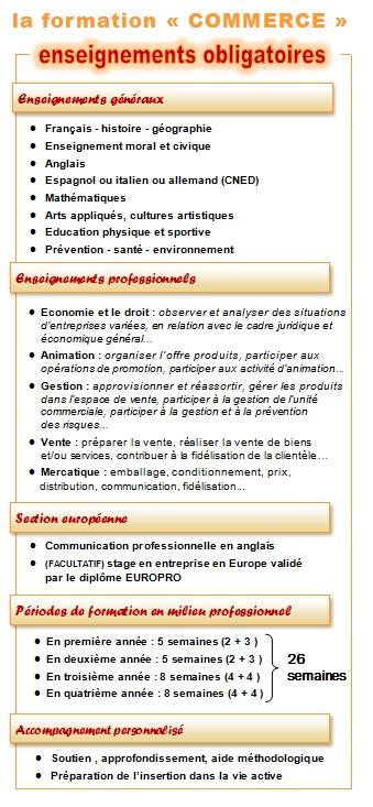 plaquette COMMERCE_enseignements